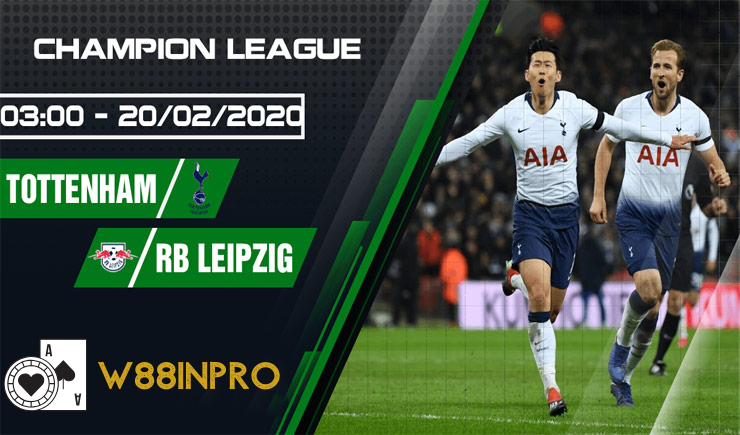 Tottenham Hotspur vs Rb Leipzig football ship on 20/02/2020